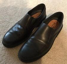 Men's Ecco Black Leather Slip-On Shoes.Size 44 / 10