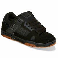 DC Shoes Men's Stag Low Top Sneaker Shoes Black/Gum (BGM) Footwear Skateboard...