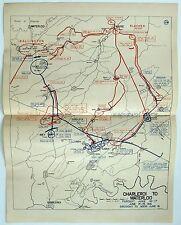 Map: Waterloo Campaign - Charleroi to Waterloo - Persuit June 16-17, 1815