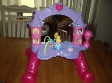 EUC Fisher Price Disney Princess Musical Mirror Floor Vanity Cinderella Talking