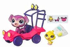 Puppy Bouncer & Birdie Quackie #220 & #221 City Rides Set Littlest Pet Shop LPS