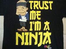 Fruit Ninja Game Trust me i'm a Ninja Funny Video Game Black T Shirt L