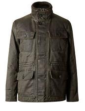 Zip Polycotton Funnel Neck Regular Coats & Jackets for Men