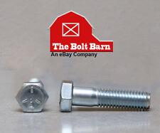 (25) 3/8-16x2-1/4 Grade 5 Hex Head Cap Screws Bolts Coarse Thread Zinc Clear