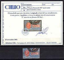 REGNO 1925-26 Espresso 2L USATO Certificato