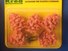 Alberi da giardino per modellismo fiori rosa 5 pz. H.cm. 8,5 HO-1:87 Krea