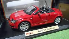 AUDI TT Roadster cabriolet ouvert open rouge 1/18 MAISTO 31878 voiture miniature