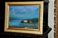 OLD  GEM OF A HIGHLAND WITH CATTLE  Painting