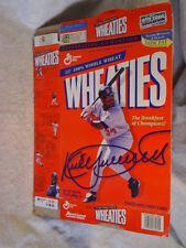 1996 KIRBY PUCKETT WHEATIES CEREAL BOX Empty,minnesota twins,baseball,batting