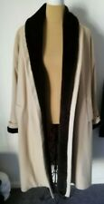 Vintage RICHARDS Wool Cashmere Mix Coat/Faux Fur Collar and Cuffs Size M (14-16)