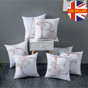 New A-Z LETTER POLYESTER CUSHION COVER PILLOW CASE WAIST THROW HOME SOFA DECOR