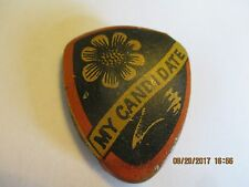 """1888 LITHO BUTTON PIN POP UP 1 1/4"""" X 2 1/2"""" BENJAMIN HARRISON """"MY CANDIDATE"""""""