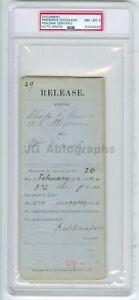 Frederick Douglass - Civil Rights Abolitionist - Autographed 1884 Doc PSA