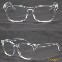 2018 Transparent Eyeglass Frame Clear Glasses Full Rim Retro Spectacles AU Stock