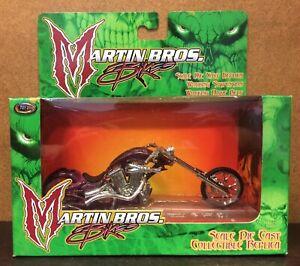 Toy Zone 1:18 Scale Martin Bros. Bikes Purple Motorcycle