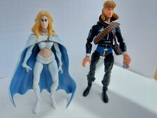 "Marvel Legends Emma Frost & Longshot 2006 Figures Toy Biz 6"" Tall High-Detailed"