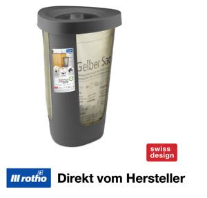Rotho Fabu Müllsackständer 50 L Gelber Sack Deckel Mülleimer Abfall Sammler
