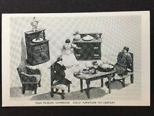 Vintage Postcard - Cambridgeshire #23 - RP Folk Museum Dolls Furniture