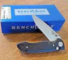 BENCHMADE New Black G10 Handle Foray Plain Edge CPM-20CV Blade Knife/Knives