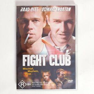 Fight Club Movie DVD Region 4 AUS - Brad Pitt Edward Norton Action