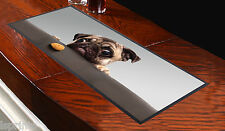 PUG DOG WITH BISCUIT DESIGN BAR RUNNER L&S PRINTS IDEAL FOR PARTIES PUBS CLUBS