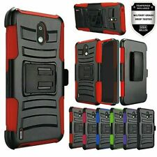 For Nokia 3.1 C 3.1 A (Not Plus) Combo Holster with Clip Case + Tempered Glass