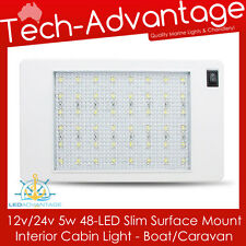 12V/24V 5W 48-LED SLIM SURFACE MOUNT INTERIOR CABIN/BOAT/CARAVAN/CAR LED LIGHT