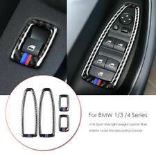 For BMW F48 X1 2016-18 Car Interior Carbon Fiber Window Lifter Switch Cover Trim