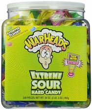 Warheads Extreme Sour Hard Candy (Pack of 240), New, Free Shipping