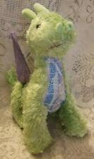 "Melissa And Doug Green Purple Wings Zephyr Dragon Stuffed Animal Plush Toy 11"""