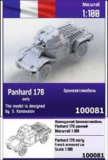 """ZEBRANO"" 100081 Panhard 178 early French armoured car 1/100"