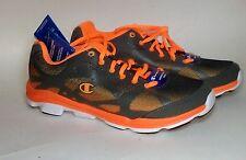 Champion Gray Orange Men Sneaker Walking Running Skate Athletic Casual Shoe 9.5