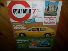Zeitschrift für VW Gute Fahrt Nr.7  1974 VW Käfer Scirocco Golf