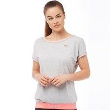 Puma Womens Transition T-Shirt Light, Grey Heather, UK 8, BNWT