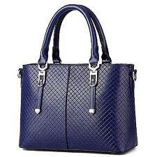 Vvting Women Top Handle Satchel Handbags Tote Purse Blue