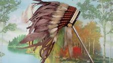 brown chief indian feather headdress indian war bonnet halloween costume