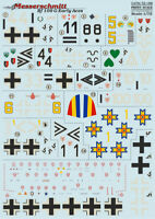 Print Scale 72-166 1/72 scale Decal for airplane - Messerschmitt Bf 109 G Early