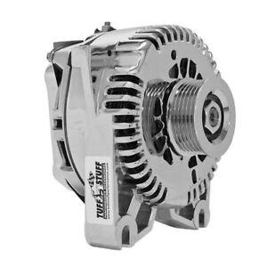 Tuff Stuff Alternator 7773AP; 4G 150 Amp Polished OE-Wire w/ 6-Groove Pulley