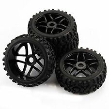 SkyQ 4pcs RC 1/8 Scale Off Road Car Buggy RC Tires Tyre and Wheels for Redcat