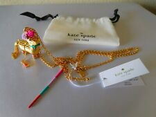 New Kate Spade Gold Plated HAUTE STUFF PENNY THE PINATA Pendant / Necklace