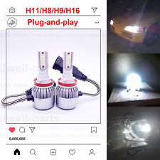 2020 NEW H11 H8 H9 LED Headlights Bulbs Kit Headlamp Lamp 50W 4500LM 6000K White
