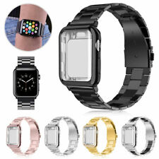 Stainless Steel Band Strap + Case Cover For Apple Watch Series 5 4 3 2 40mm 44mm
