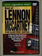 Signature Licks Best of Lennon & McCartney for Electric Guitar 2001 DVD Tom Kolb