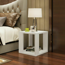 Modern Square Coffee Tea Table Living Room Bedside Table Desk With Storage Space
