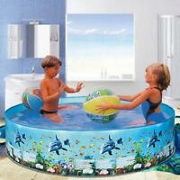 Schwimmbad für Kinder Kleinkind Baby Pool Garden Dolphin Swimming Printed V6E3