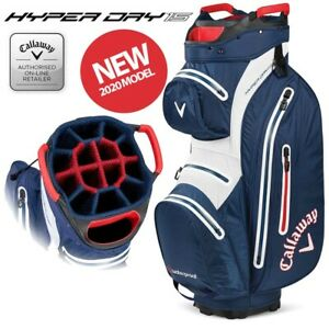 Callaway Hyper Dry 15 Waterproof Golf Trolley/Cart Bag Navy/White - NEW! 2020