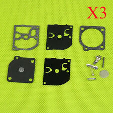 3X Carb Kit ZAMA C1Q-H14 -H19 -H27 -H32 -M27 -M28 -M33 -W2A Carburettor