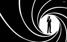 James Bond 007 - Secret Agent Wall Art Large Framed Canvas Picture 20x30 Inch