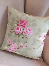 REVERSIBLE Clarke & Clarke Nancy Roses Cushion Covers Garden Chair Summerhouse