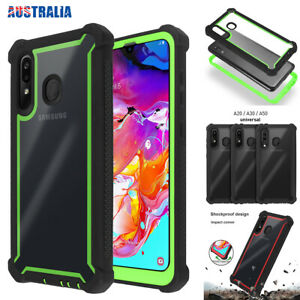 For Samsung Galaxy A20/A30/A50 Case Rugged TPU Heavy Duty Shockproof Clear Cover